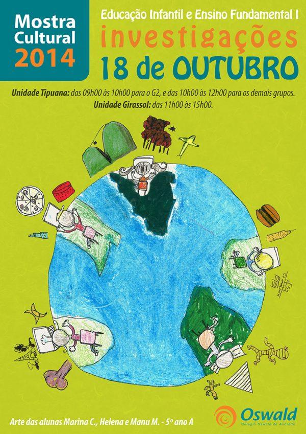 Cartaz Mostra Cultural 2014 investigações
